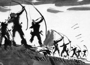 English archers at Agincourt